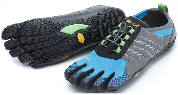FiveFingers W's Trek Ascent Shoes Grey/Blue/Green